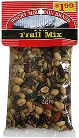 trail mix deluxe, pre-priced Rocky Mountain Brand Nutrition info