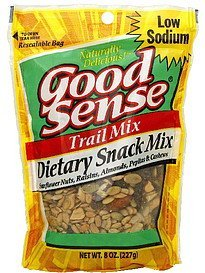 trail mix dietary snack Good Sense Nutrition info