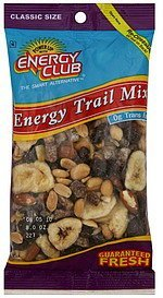 trail mix energy, classic size Energy club Nutrition info