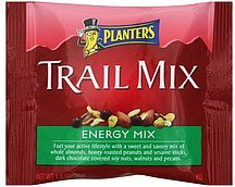 trail mix energy mix Planters Nutrition info