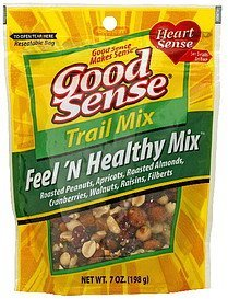 trail mix feel 'n healthy Good Sense Nutrition info