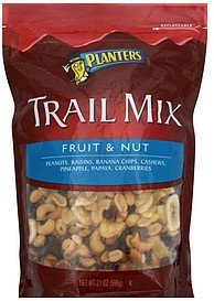 trail mix fruit & nut Planters Nutrition info