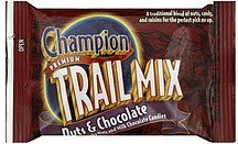 trail mix nuts & chocolate Champion Nutrition info
