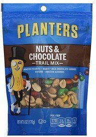 trail mix nuts & chocolate Planters Nutrition info