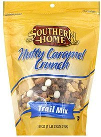 trail mix nutty caramel crunch Southern Home Nutrition info