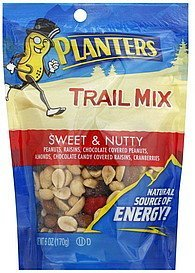 trail mix sweet & nutty Planters Nutrition info