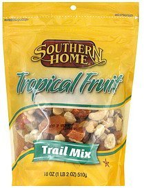trail mix tropical fruit Southern Home Nutrition info