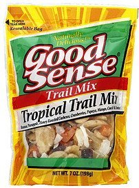 trail mix tropical trail mix Good Sense Nutrition info