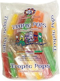 tropic pops assorted flavors Budget Saver Nutrition info