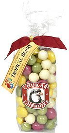 tropical berry white chocolate Chukar Cherries Nutrition info