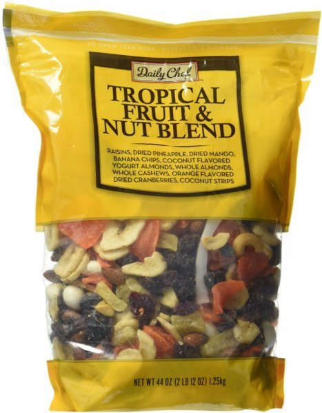 tropical fruit and nut blend Daily Chef Nutrition info