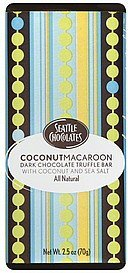 truffle bar coconut macaroon, dark chocolate Seattle Chocolates Nutrition info
