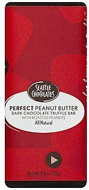 truffle bar dark chocolate, perfect peanut butter Seattle Chocolates Nutrition info