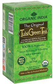 tulsi green tea Organic India Nutrition info