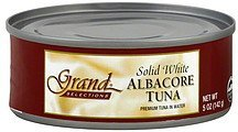 tuna albacore, solid white, in water Grand Selections Nutrition info