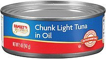 tuna chunk light in oil Family Gourmet Nutrition info