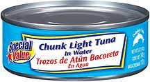 tuna chunk light in water Special Value Nutrition info