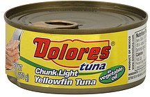 tuna chunk light, yellow fin, in vegetable oil Dolores Nutrition info