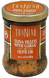 tuna fillets with garlic in olive oil TONNINO Nutrition info