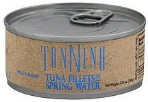 tuna fillets yellowfin, in spring water TONNINO Nutrition info