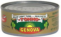 tuna in olive oil, solid light Genova Nutrition info