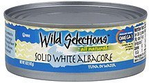 tuna solid white albacore in water Wild Selections Nutrition info