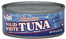 tuna solid white, albacore, packed in water Price Chopper Nutrition info