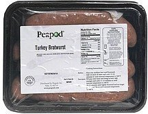 turkey bratwurst Peapod Nutrition info
