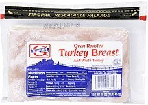 turkey breast oven roasted, and white turkey Super G Nutrition info