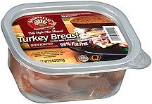 turkey breast oven roasted deli style thin shaved Shurfresh Nutrition info