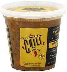 turkey chili with beans, high plains turkey, medium The Manhattan Chili Co. Nutrition info
