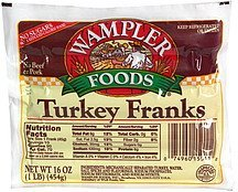 turkey franks Wampler Foods Nutrition info
