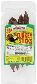 turkey sticks pepperoni flavor Sheltons Nutrition info
