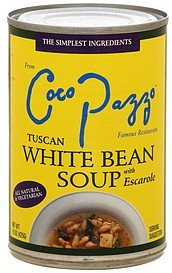 tuscan white bean soup with escarole Coco Pazzo Nutrition info