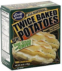twice baked potatoes sour cream and chive Health is Wealth Nutrition info