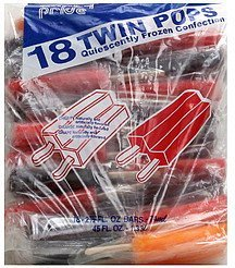 twin pops assorted Party Pride Nutrition info