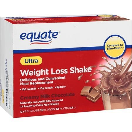 ultra weight loss shake creamy milk chocolate equate Nutrition info