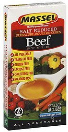 ultracube-bouillon cubes beef style, salt reduced Massel Nutrition info