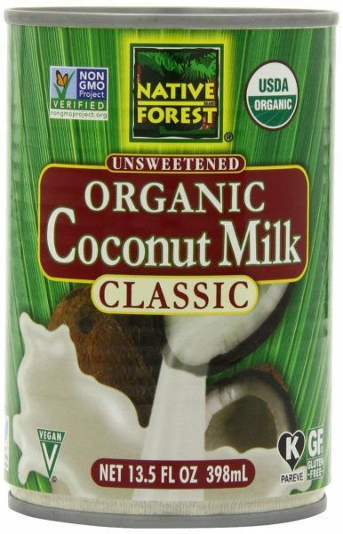 unsweetened organic coconut milk Native Forest Nutrition info