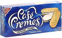 vanilla fudge sandwich cookies Cafe Cremes Nutrition info