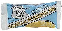 vanilla pudding pie Northwest Best Valu Nutrition info