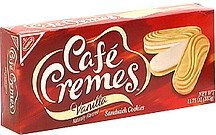 vanilla sandwich cookies Cafe Cremes Nutrition info