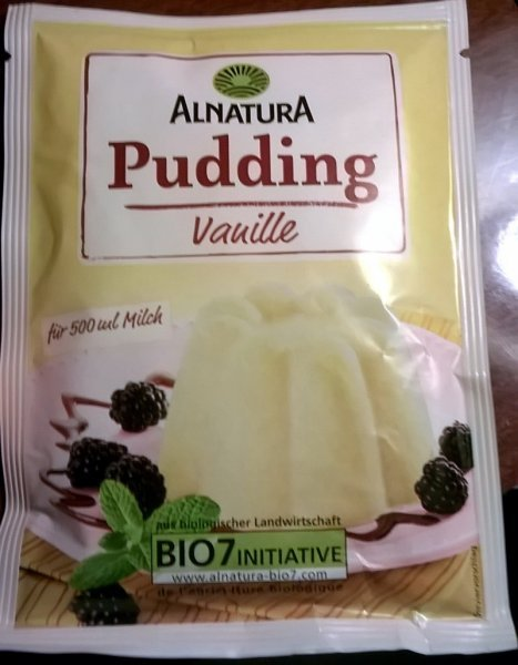 vanille pudding Alnatura Nutrition info