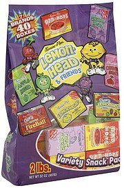 variety snack pack Lemon-Head & Friends Nutrition info