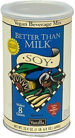 vegan beverage mix soy, vanilla Better Than Milk Nutrition info