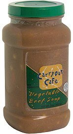 vegetable beef soup Carryout Cafe Nutrition info