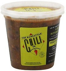vegetable chili with beans, 4 bean butternut squash, hot The Manhattan Chili Co. Nutrition info