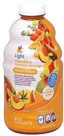 vegetable & fruit juice beverage light, peach mango Ahold Nutrition info