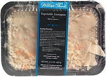 vegetable lasagna in white sauce Wilton Foods Nutrition info