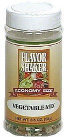 vegetable mix, economy size Flavor Shaker Nutrition info